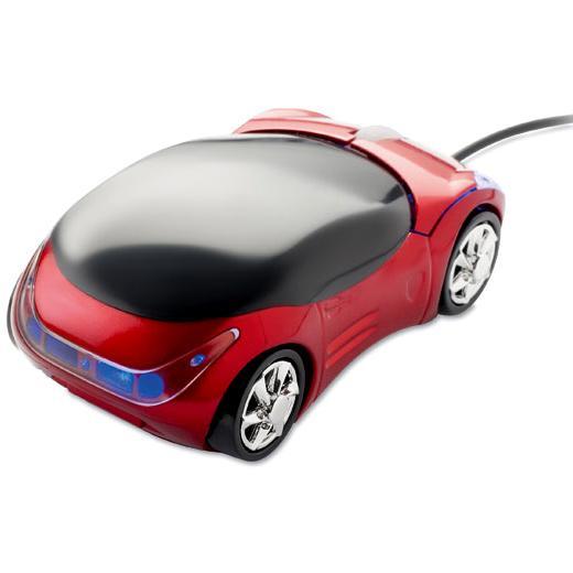 Mouse optic in forma de masina